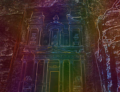 Petra Mixed Media - Beautiful Petra by Yaser Saad