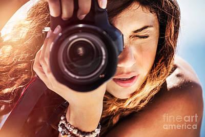 Photograph - Beautiful Photographer Girl by Anna Om