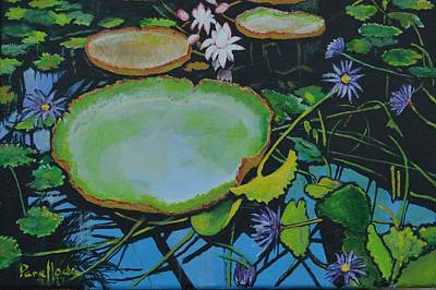 Painting - Beautiful  Pond  by Jorge Parellada