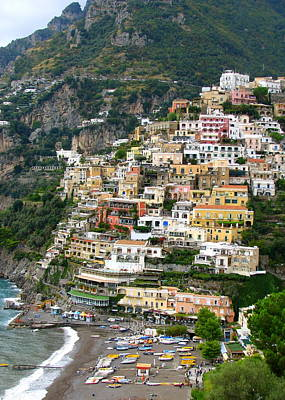 Beautiful Positano Art Print by Carla Parris