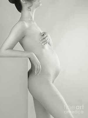 Pregnant Photograph - Beautiful Pregnant Woman Body by Oleksiy Maksymenko