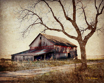 Beautiful Red Barn-near Ogden Art Print