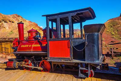 Narrow Gauge Photograph - Beautiful Red Calico Train by Garry Gay