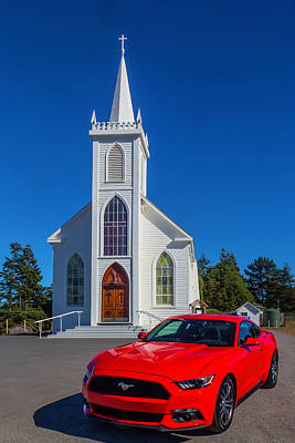 Hitchcock Photograph - Beautiful Red Mustang  by Garry Gay