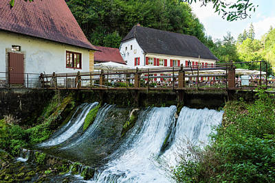 Photograph - Beautiful Restaurant Friedrichshoehle At The Wimsener Cove In The Swabian Alb by Frank Gaertner