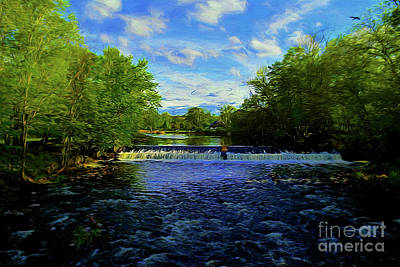Photograph - Beautiful River 16618 by Ray Shrewsberry