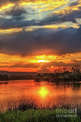 Photograph - Beautiful River Sunset by Robert Bales