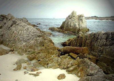 Photograph - Beautiful Rocks Of Pacific Grove Ca by Joyce Dickens