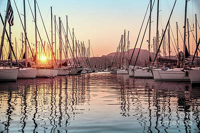 Photograph - Beautiful Sailboats In The Dock by Anna Om