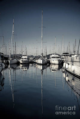 Photograph - Beautiful Sailboats In The Harbor by Anna Om