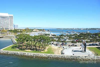 Photograph - Beautiful San Diego Bay by Claudia Ellis