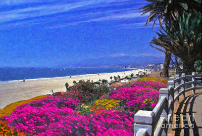 Photograph - Beautiful Santa Monica Ca by David Zanzinger