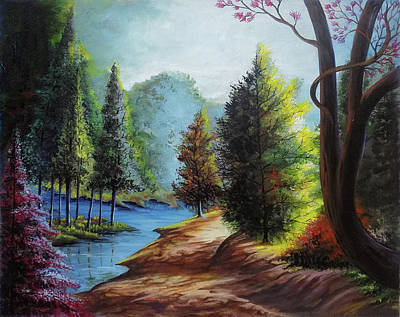 Nature Abstract Drawing - Beautiful Scenery 2 by Arun Sivaprasad
