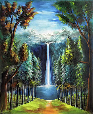 Visionary Art Drawing - Beautiful Scenery 3 by Arun Sivaprasad