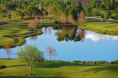 Photograph - Beautiful Scenery That Is Part Of The Shingle Creek Golf Club Course In Orlando Florida by Richard Rosenshein