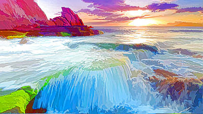 Beautiful Seascape 1 Art Print by Lanjee Chee