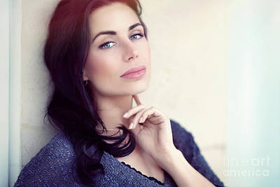 Photograph - Beautiful Serious Woman by Anna Om