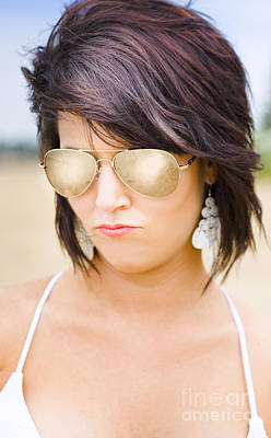 Photograph - Beautiful Sexy Woman In Summer Sunglasses by Jorgo Photography - Wall Art Gallery