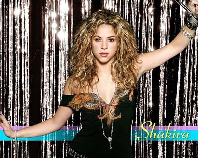 Shakira Digital Art - Beautiful Shakira by Emma Brown