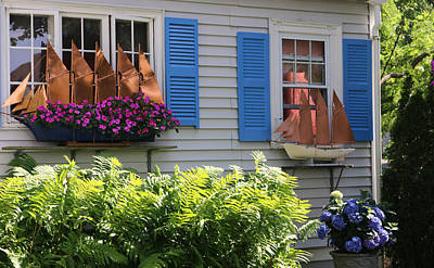 Photograph - Beautiful Ship Flower Boxes 3 by Living Color Photography Lorraine Lynch