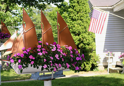 Photograph - Beautiful Ship Flower Boxes 4 by Living Color Photography Lorraine Lynch