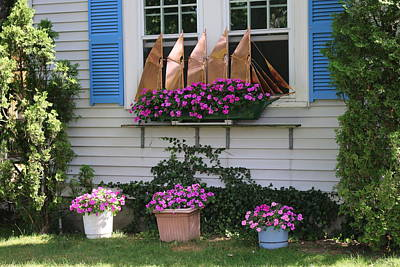Photograph - Beautiful Ship Flower Boxes by Living Color Photography Lorraine Lynch