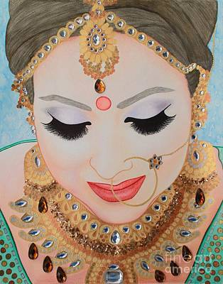 Drawing - Beautiful Sikh Bride by Malinda Prudhomme