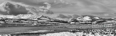 Photograph - Beautiful Skies Over Swan Lake Flats Black And White by Adam Jewell