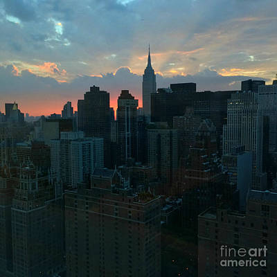 Photograph - Beautiful Sky - Sunset In New York by Miriam Danar