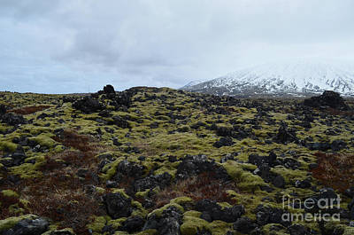Photograph - Beautiful Snow Capped Mountain In Rocky Iceland  by DejaVu Designs