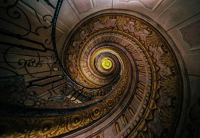 Photograph - Beautiful Spiral Staircase  by Jaroslaw Blaminsky
