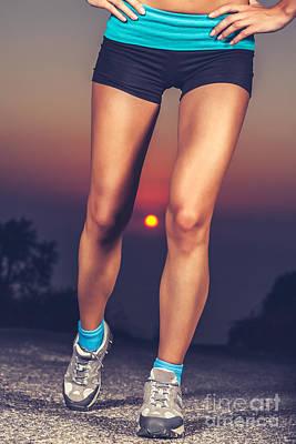 Photograph - Beautiful Sportive Womens Legs by Anna Om