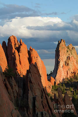 Steven Krull Royalty-Free and Rights-Managed Images - Beautiful Springtime Sunset Light on Garden of the Gods by Steven Krull