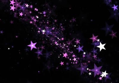 Beautiful Stars Particles Background Art Print