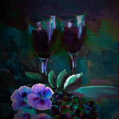 Digital Art - Beautiful Stemware Painting By Lisa Kaiser by Lisa Kaiser