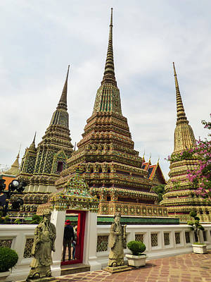 Photograph - Beautiful Stupas At Wat Pho Temple by Helissa Grundemann
