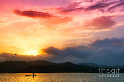 Beautiful Sunset Art Print by Charuhas Images