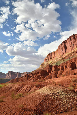 Photograph - Beautiful Sunset Over Capitol Reef by Ray Mathis