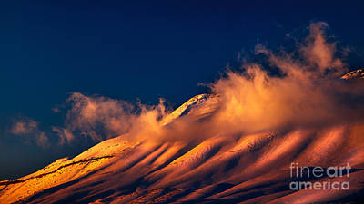 Photograph - Beautiful Sunset Over Snowy Mountains by Anna Om