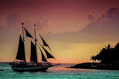 Mallory Square Photograph - Beautiful Sunset Sail At Key West by Art Spectrum