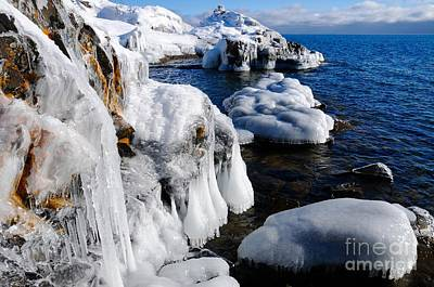 Beautiful Superior Ice Art Print by Sandra Updyke