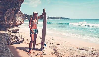 Photograph - Beautiful Surfer Girl by Anna Om