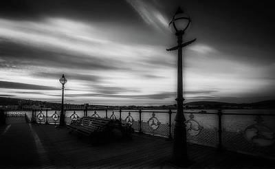 Swanage Pier Photograph - Beautiful Swanage Bay Sunset by Roman Grac