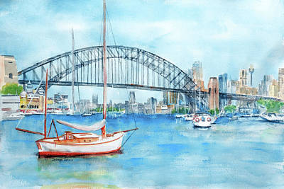 Painting - Beautiful Sydney Harbour by Debbie Lewis