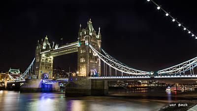Photograph - Beautiful Tower Bridge by Walt  Baker