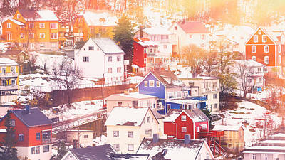 Photograph - Beautiful Town In Winter by Anna Om