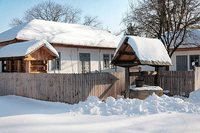 Photograph - Beautiful Traditional Romanian House Covered In Snow by Daniela Constantinescu