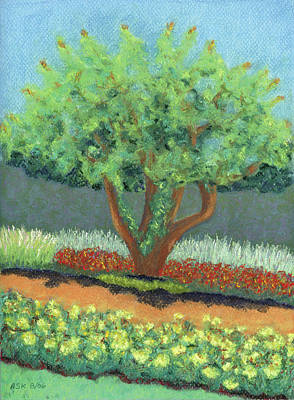 Pastel - Beautiful Tree by Anne Katzeff