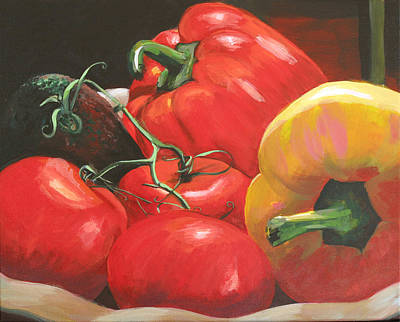 Painting - Beautiful Vegetables by Trina Teele