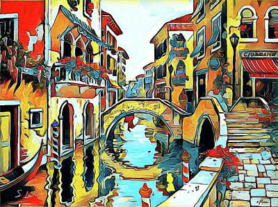 Photograph - Beautiful Venice Watercolor by S Art